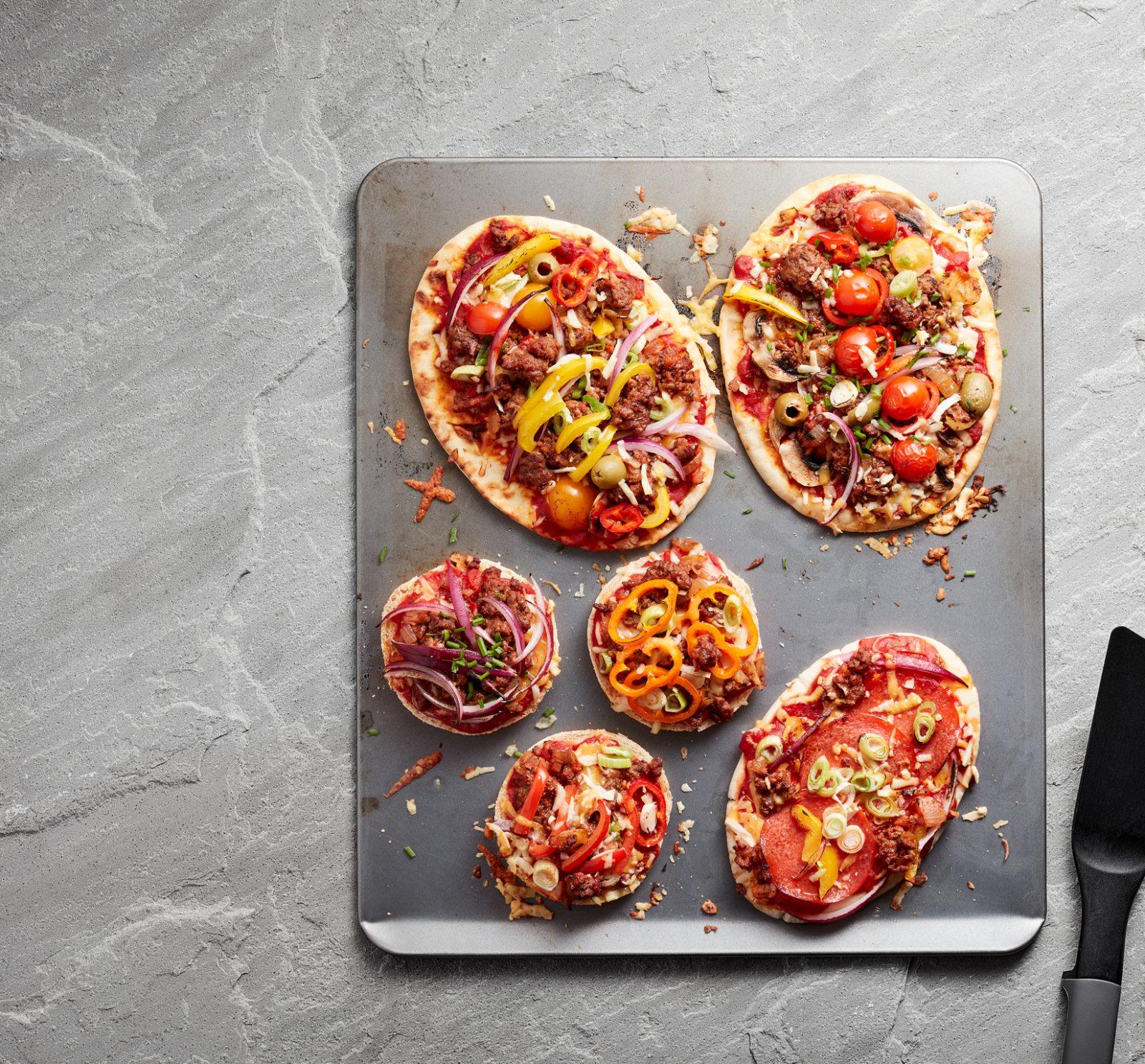 Pizzas bychain Cig Eidion Cymru